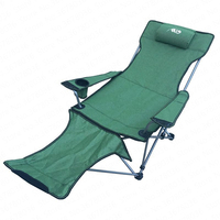 Outdoor Folding Chair Recliner Portable Backrest Leisure Beach Fishing Chair Nap Lunch Break Chair