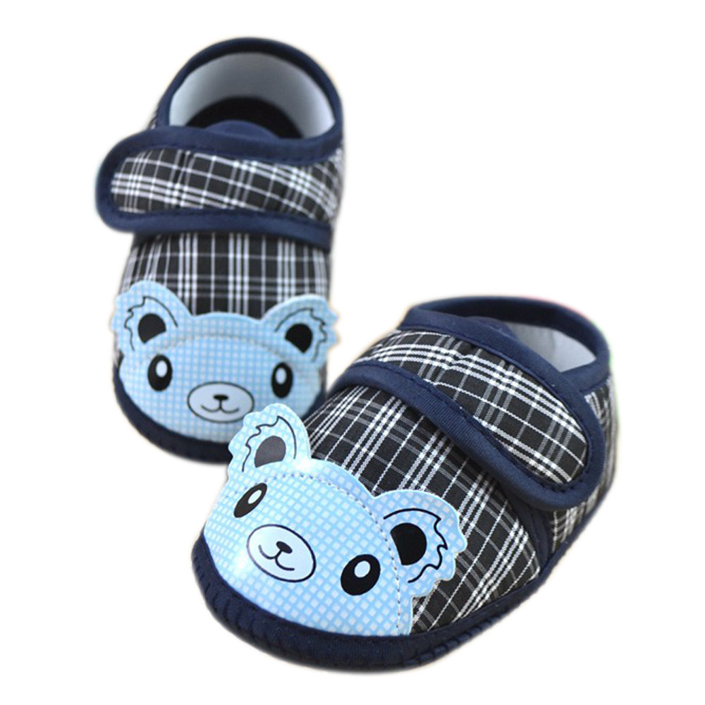 MUQGEW Baby Cute Cartoon Bear Shoes Toddler Infant Unisex Girls Boys Soft Sole Crib Toddler Shoes Canvas Sneaker For 0-10 Month