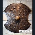 Ancient Rome Troy film Cosplay props shield / simulation retro iron / bar living room background wall