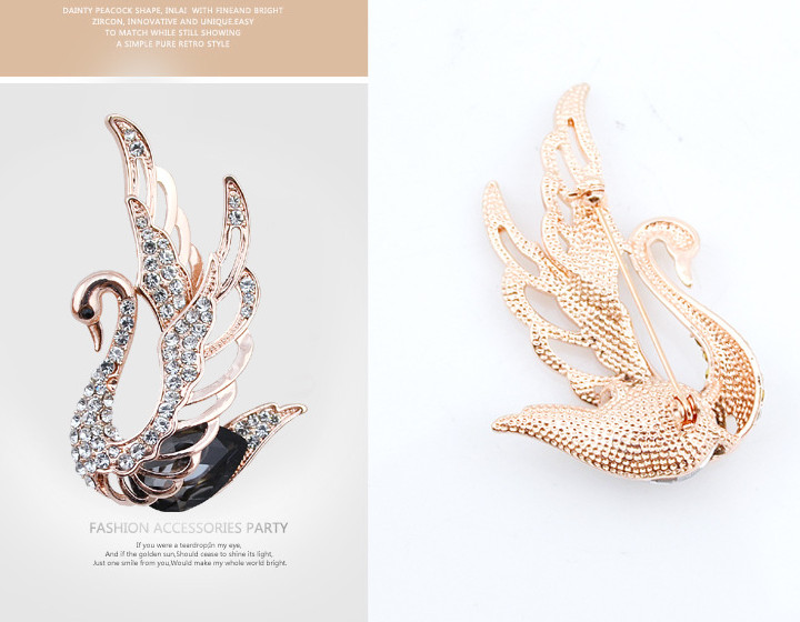 CINDY XIANG 3 Colors Choose Rhinestone and Crystal Swan Brooches for Women Elegant Animal Pins and Brooches Fashion Jewelry 19 8