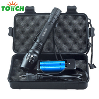 5000Lm Tactical Zoomable Led Flashlight Cree Xml T6 Defense Torch Emergency Light Rechargeable Portable Hand Lantern