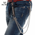 Doublet Cuban Link Buckle Square Rivets PU Joint Jeans Chain Punk Style Fashion Men Wallet Key Chain Free King J60
