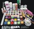 2018 Pro Full Acrylic Glitter Powder Glue French Nail Art Brush Kit Set