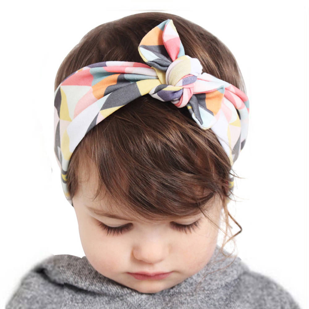 Girls Fashion Knot Headbands Cotton Hair Accessories For Women Girls Newborn Flower Hair Band Kids Head Wrap Headwear W284(China)