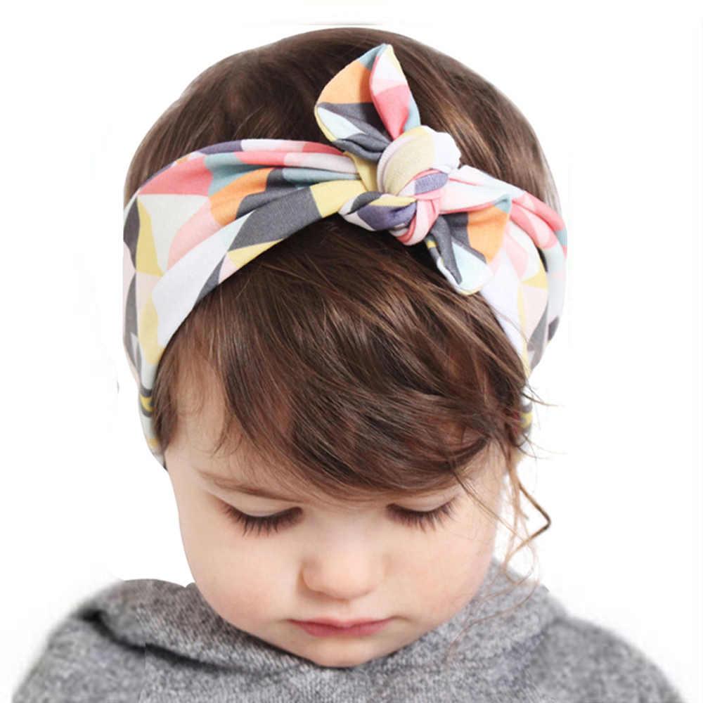 בנות אופנה קשר סרטי ראש כותנה שיער אביזרי עבור נשים בנות יילוד פרח שיער להקת ילדים ראש גלישת בארה 'W284