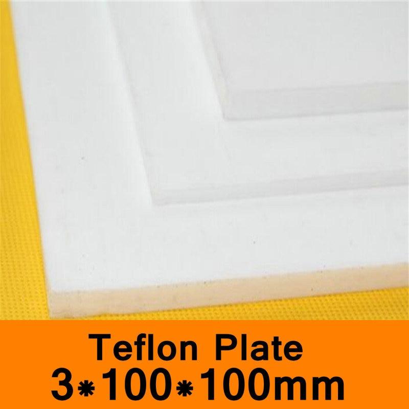 PTFE Sheet 3x100x100mm Teflon Plate Teflon Board Block Polytef Polytetrafluoroethylene Plate Anti-corrosion High TemperaturePTFE Sheet 3x100x100mm Teflon Plate Teflon Board Block Polytef Polytetrafluoroethylene Plate Anti-corrosion High Temperature
