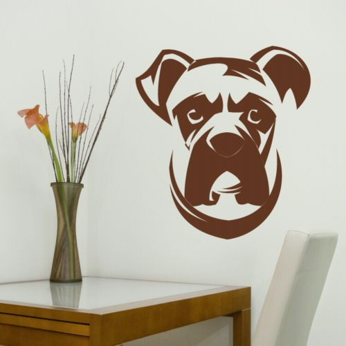 Sell like hot cakes Boxer Dog Wall Stickers decor sticker Removable ...