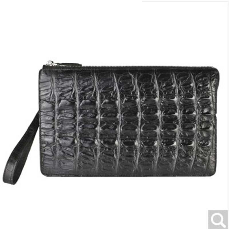 weitasi Crocodile man cluth bag large volume business hand bag men purse black crocodile leather hand bag crocodile bone hand crocodile crocodile cr225r black gold page 8