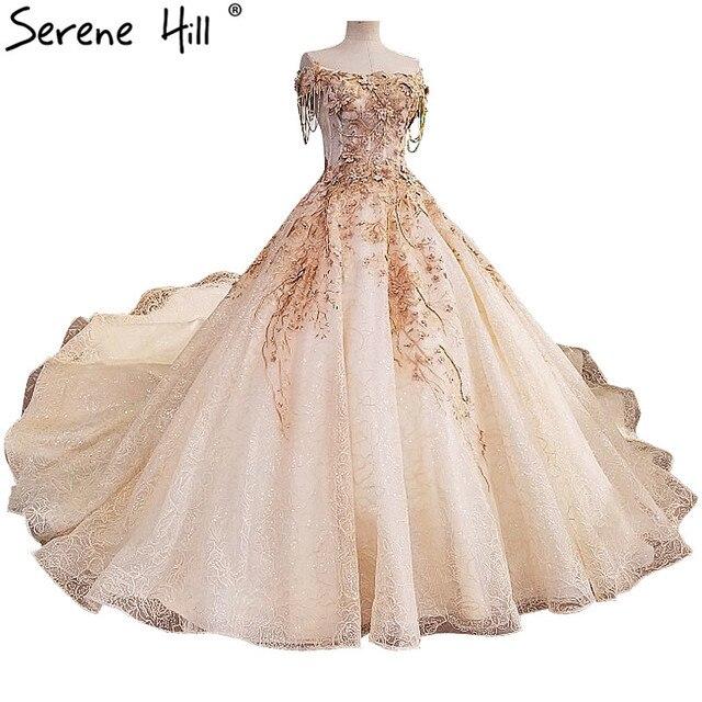Us 421 95 13 Off Vestido De Noiva High End Terbaru Gaun Desain Bunga Mutiara Mewah Tanpa Lengan Seksi Gaun Pengantin 2019 Di Wedding Dresses Dari