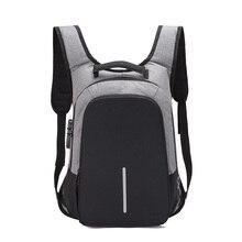 กระเป๋าเป้สะพายหลังMultifunction USBชาร์จ 15.6 นิ้วแล็ปท็อปกระเป๋าเป้สะพายหลังสำหรับวัยรุ่นเดินทางกระเป๋าเป้สะพายหลังโจรแฟชั่นชายMochila