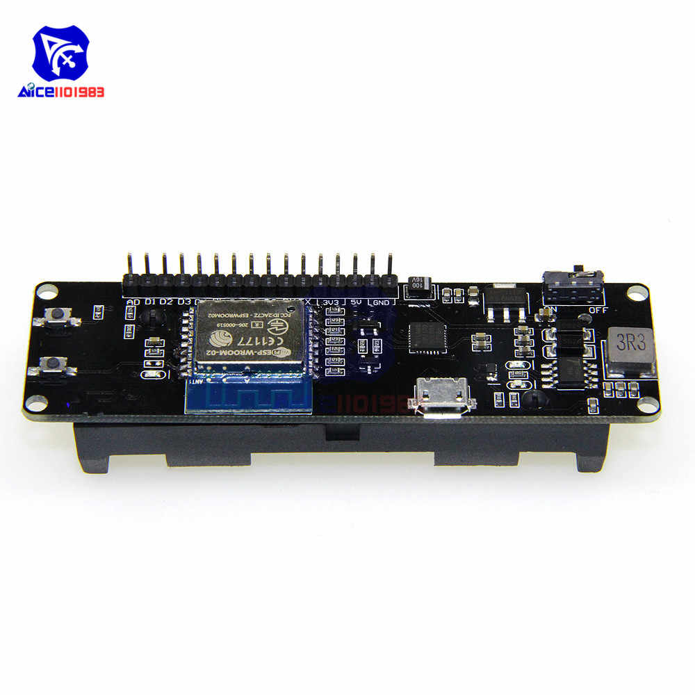 18650 Battery Case for WeMos D1 ESP8266 Mini WiFi Wireless NodeMcu Module Development Board Esp-Wroom-02 1A PWM I2C for Arduino
