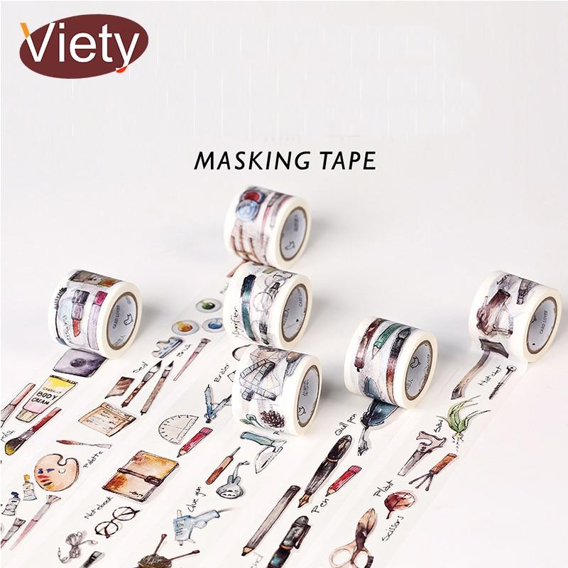 3cm*7m Daily Life Zakka washi tape DIY decorative scrapbooking sticker planner masking adhesive tape label school supplies