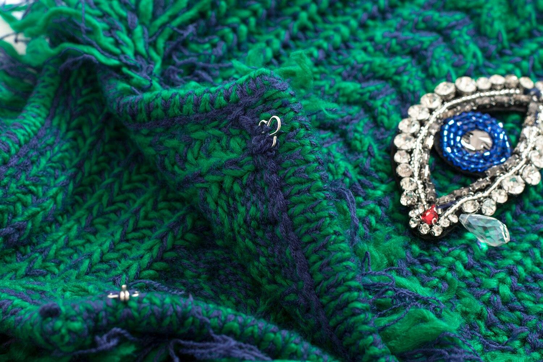 Chandail Gland Manteau Cardigans Nouveau Lâche Pull Femmes 2018 Femme Cardigan Diamant Hiver Green Eye Perles Piste Veste Élégant qFYXw7