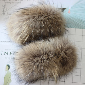 Image 4 - Fur Arm Cuffs For Sleeve Natural Real Fox Fur Fashion Genuine Fur Short Cuff Cute Arm Warmer Solid Color Wrist Warmer Soft