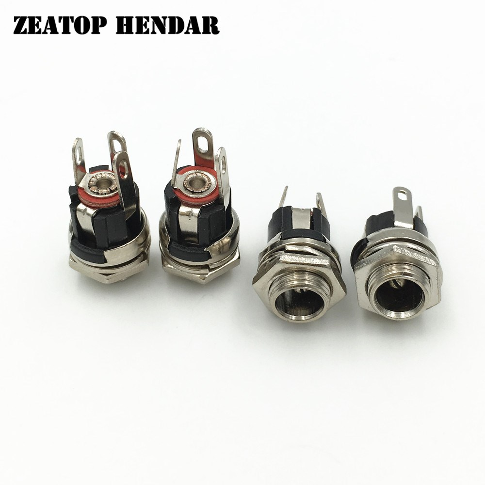 20PCS 5.5 x 2.1 mm DC Power Supply Jack Socket Female Panel Mount Connector
