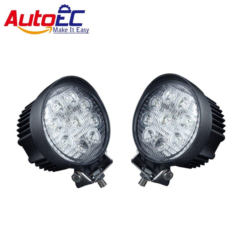 ФОТО AutoEC led working light round light 9LED * 3W 27W high power High Quality for 4X4 SUV #LX08