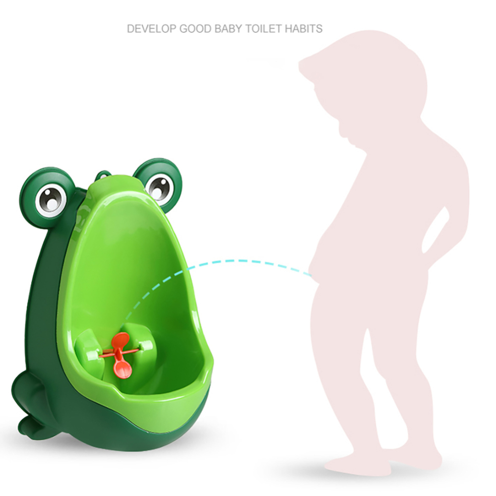 Frog Urinal Baby Boy Toilet Training Children Stand Vertical Urinal Wall-Mounted Hook Frog Potty Boys Bathroom Toilet Training