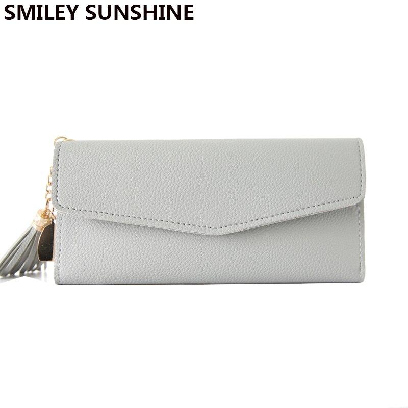 SMILEY SUNSHINE Lady long clutch slim wallet fashion handy hasp women wallets big female thin coin purse card holders money bag стоимость