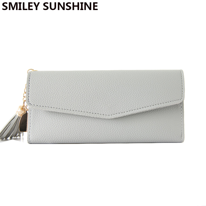 SMILEY SUNSHINE long clutch slim wallet fashion handy hasp women wallets female thin coin purse card holders wallet money bag korean style women wallet solid color long pattern wallets hasp large capacity bag lady money purse card holders female wallet