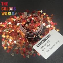 TCT 242 ฤดูใบไม้ร่วง Leaf Shape 5MM Maple Leaf เล็บ Glitter ตกแต่งเล็บเจล Glitter แต่งหน้างานฝีมือหัตถกรรม DIY ตกแต่ง