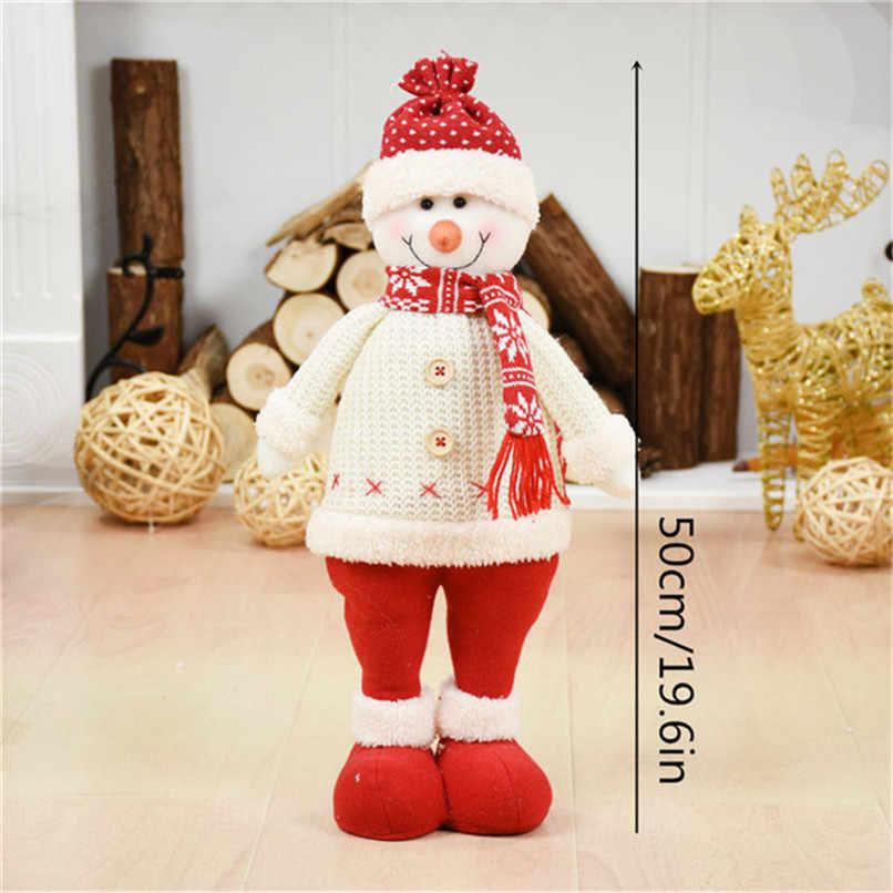 3 pz/lotto Babbo natale + Pupazzo di Neve + Alce Bambola Decorazione Di Natale Ornamenti Del Basamento Giocattoli Nuovo Anno del Regalo Di Compleanno Decorazioni Albero natale