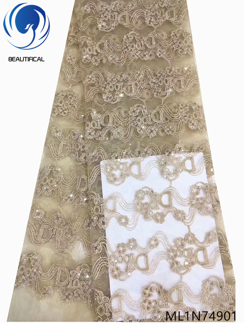 BEAUTIFICAL 2019 nigerian embroidery french tulle lace fabrics high quality new african lace fabrics ML1N749BEAUTIFICAL 2019 nigerian embroidery french tulle lace fabrics high quality new african lace fabrics ML1N749