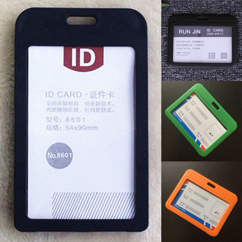 Office & School Supplies Pvc Id Badge Holder Accessories Vertical Credit Card Bus Cards Case Papelaria Stationery Cute Supplies With Lanyard Badged Reel