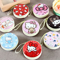 Hello Kitty Earphone Case Earbuds Hard Storage Carrying Pouch Bag SD Card USB Cable Hold Box Zipper Earphones Bag Accessories