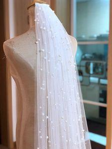 Image 5 - Heißer Verkauf 1 Tier Kathedrale Royal Kristall Perle Hochzeit Braut Schleier Mit Perle Elfenbein EE704