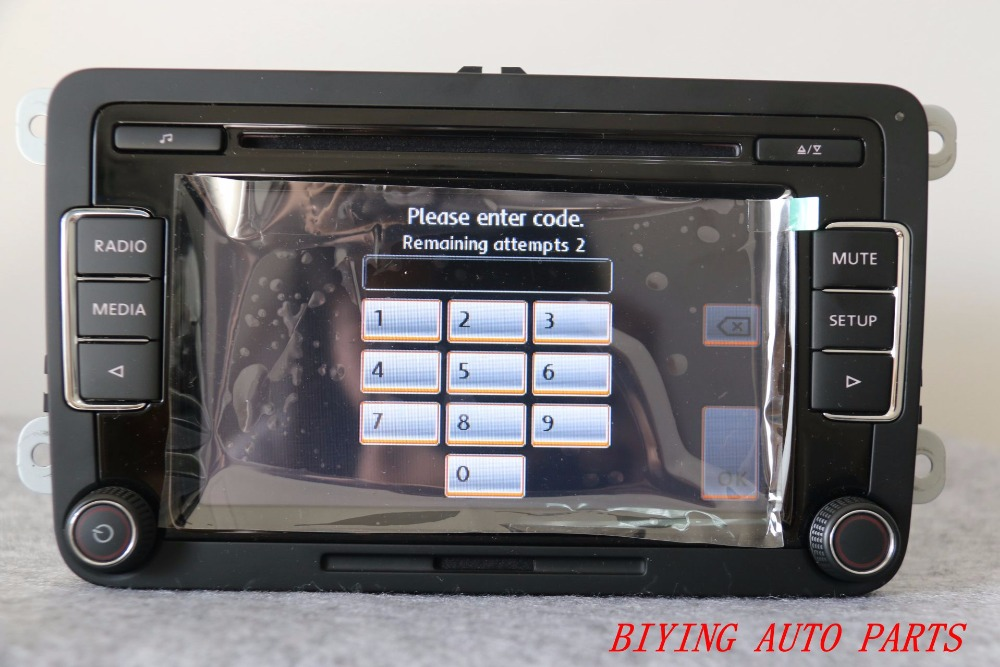 free shipping rcd510 vw original car mp3 sd usb radio stereo rcd510 radio with code for vw golf. Black Bedroom Furniture Sets. Home Design Ideas