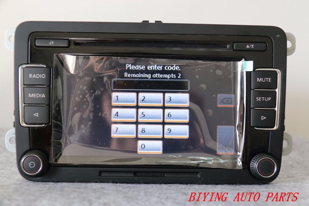 Prix pour Livraison Gratuite RCD510 VW De Voiture D'origine MP3 SD USB Radio Stéréo RCD510 Radio Avec Code Pour VW Golf 5 6 Jetta CC Tiguan Passat Polo