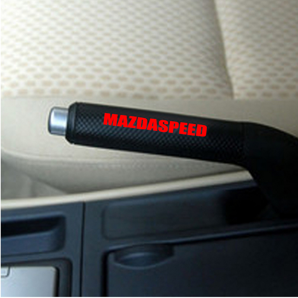 4 x Car Interior Hand Brake Sticker Decal speed Decorative Sticker Glue Sticker For Mazda M2 M3 M5 M6 Cx5 Cx7 Car Styling