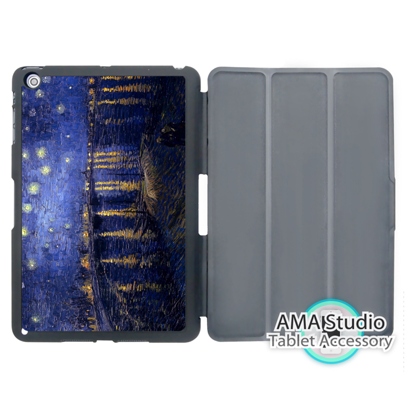 Van Gogh Starry Night 1888 Case For Apple iPad Mini 1 2 3 4 Air Pro 9.7 Wake UP Sleep Cover настенные фотокартины van gogh fruit df 218