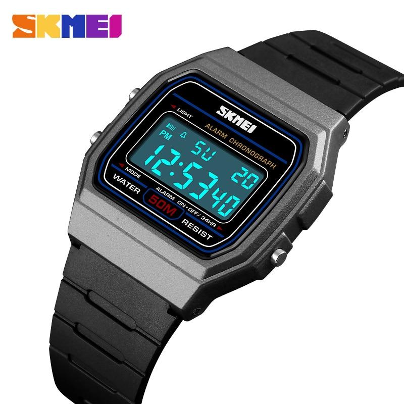 SKMEI Digital Watches Clocks Women Luxury Relojes Men's Masculino LED Male Top-Brand