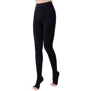 Image 4 - 20 30mmHg Medical Stocking Pressure Black Khaki Nylon Pantyhose Compression Stockings Stovepipe Stockings  2
