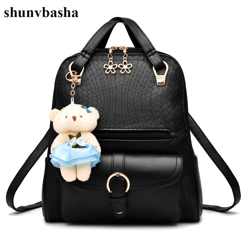 Brand Women Backpacks PU Leather High Quality School Backpacks For Teenage Girls Phone Pocket Bags Female Design Mochila Ladies