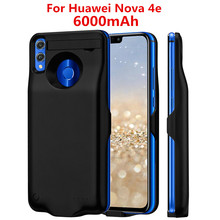 цена на NTSPACE 6000mAh External Battery Charger Cases For Huawei Nova 4e Power Case Ultra Slim Portable Power Bank Charging Cover Case