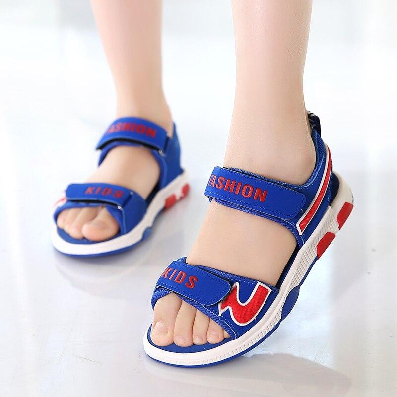 Summer Unisex Children Shoes Non-slip Soft Bottom Breathable Big Kids Beach Shoes Open Toe Sandals For Boys & Girls Size 35-40