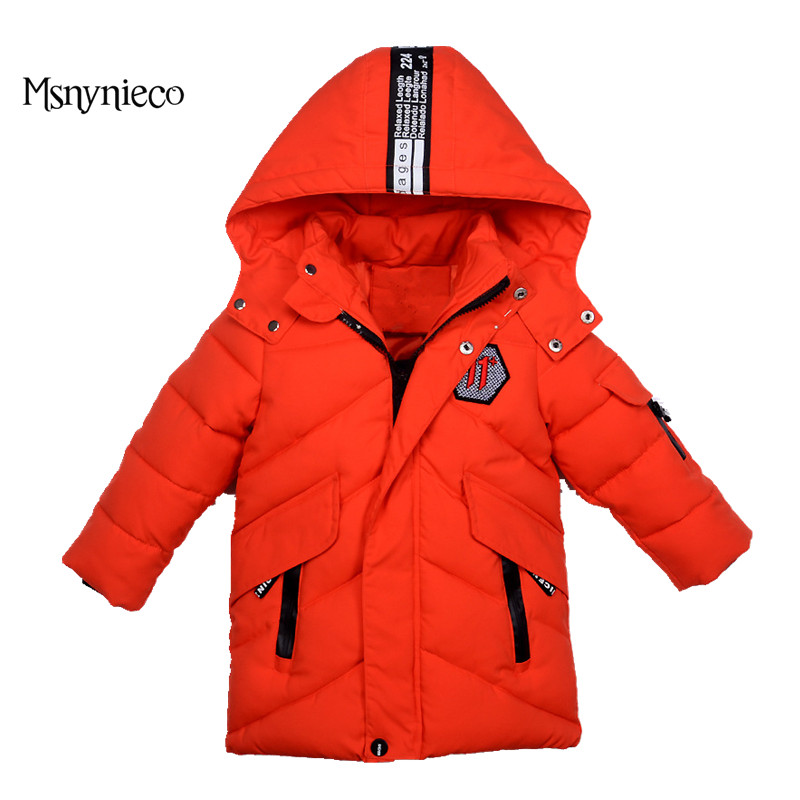 Winter Jackets for Boys Hooded Warm Parka Children Outerwear&Coats Kids Thick Solid Jacket Children's Clothing 2 3 4 5Year