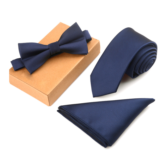 Tie Set Men Bow Tie and Pocket Square Bowtie Necktie Cravate Handkerchief Papillon Man Corbatas Hombre Pajarita
