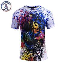 Mr.1991inc streetwear colorido camiseta hombres hip-hop Camisetas hombre  Tops Camisetas Tees originalidad graffiti cabeza de leó. 161571189a0