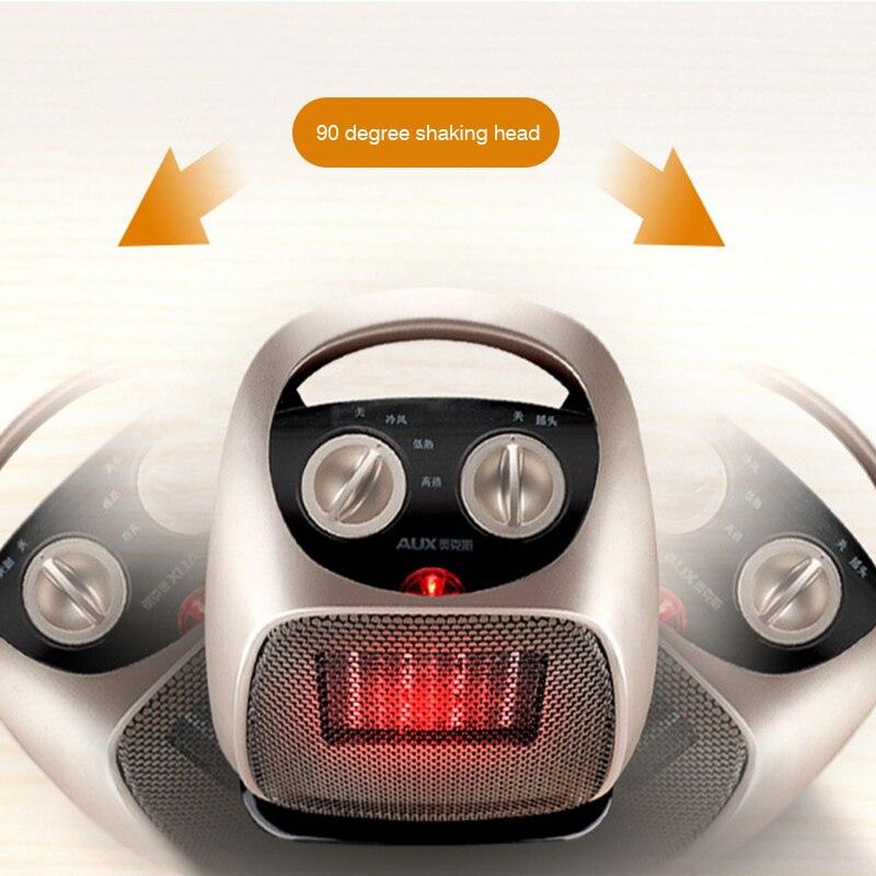 Calentador eléctrico de 220 V para el hogar, calentador portátil de interior, calentador de agua de oficina, calentador de aire para el invierno - 4