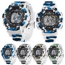 Luxo Dos Homens do Relógio À Prova D' Água Digital LED Alarm Quartz Data Sports relógio de Pulso Analógico Esportes Relógio de Pulso relogio masculino