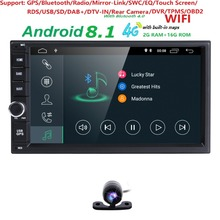 Quad Core autoradio 2 din android 8.1 radio gps navigation car dvd player 2din steering wheel Rear View Camera WIFI 4G 2G RAM BT