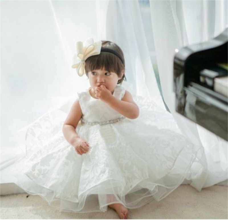 Newborn Bow Dress Baby Girl (5)
