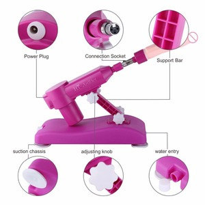 Image 3 - HISMITH New Arrival Automatic Sex Machine Gun with 8 kinds Dildos Attachments Noiseless Sex Love Machines Stronger Power