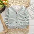 2016 лето осень новорожденных мальчиков и девочек 100% хлопок пальто куртки сплошной цвет детская одежда бренда бесплатная доставка
