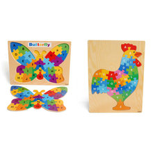Free delivery,  wooden puzzle, alphanumeric puzzles, toys, learning and education of baby toys,child interactive