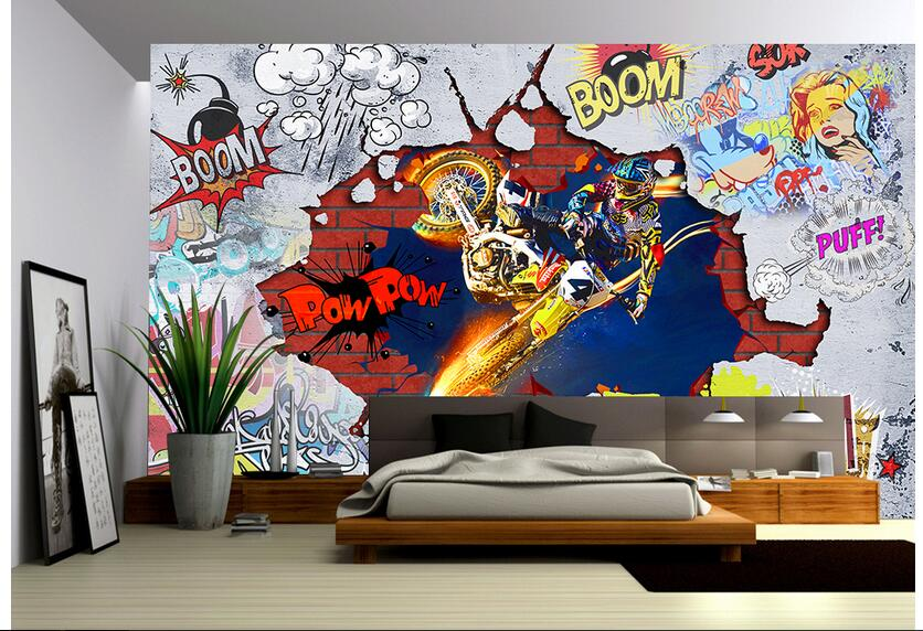 Custom Photo 3d Wallpaper Non Woven Mural Picture 3 D