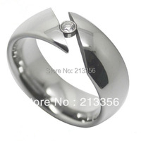Free Shipping Cheap Price 2013 USA Hot Selling New 8mm Tungsten Carbide Cubic Zirconia Tension Wedding